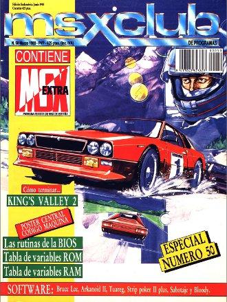 Portada del número 50 de MSX-Club