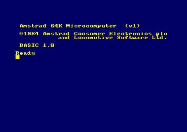 Arrancando: la pantalla inicial del CPC 464